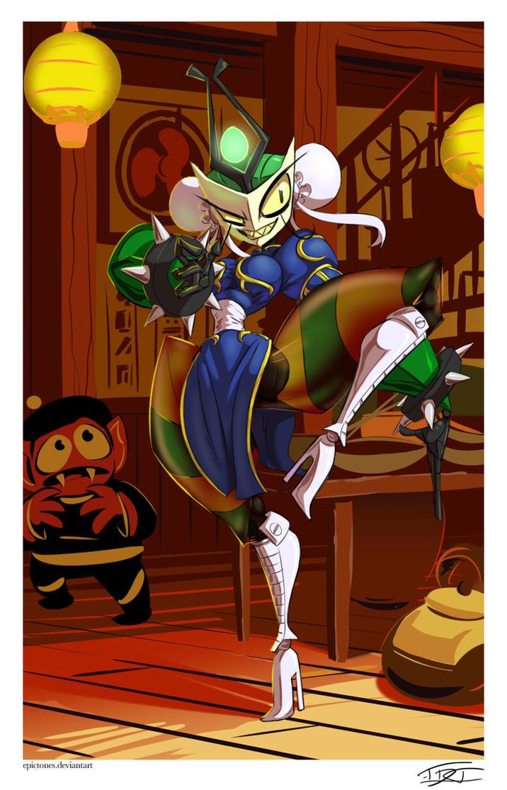 Queen Vexus as Chun Li by EpicTones