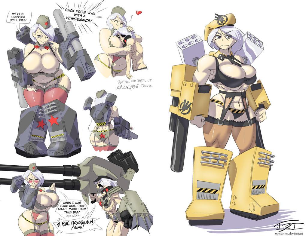 Mammoth Tank Mecha Musume by EpicTones