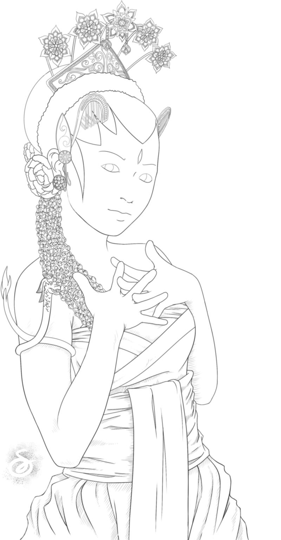 Line Art Java : Lineart java bride by sansoja on deviantart