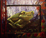 Frog, Framed by oceanstarr
