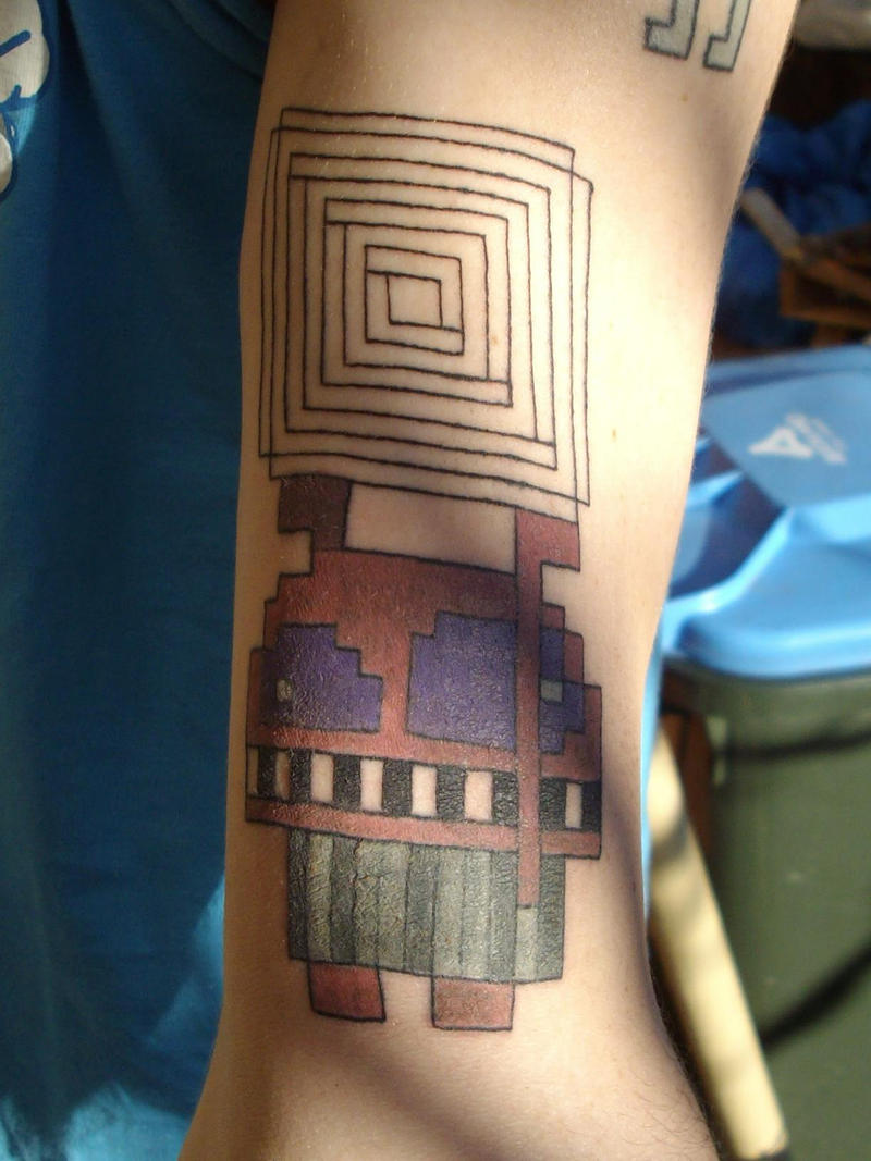 my second pixel tattoo by