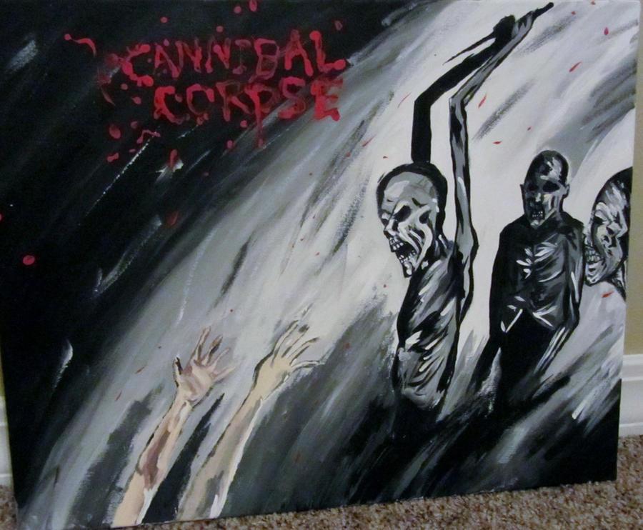 Cannibal corpse album painting by AmandaPainter87
