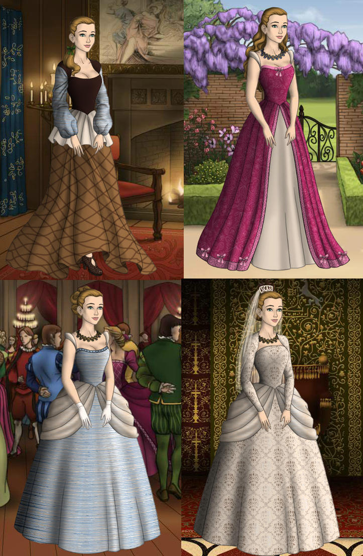 Cinderella\'s Tudor Dresses by GingerLass0731 on DeviantArt