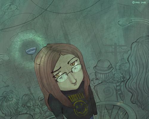 Feeling like an alien. by Piyu