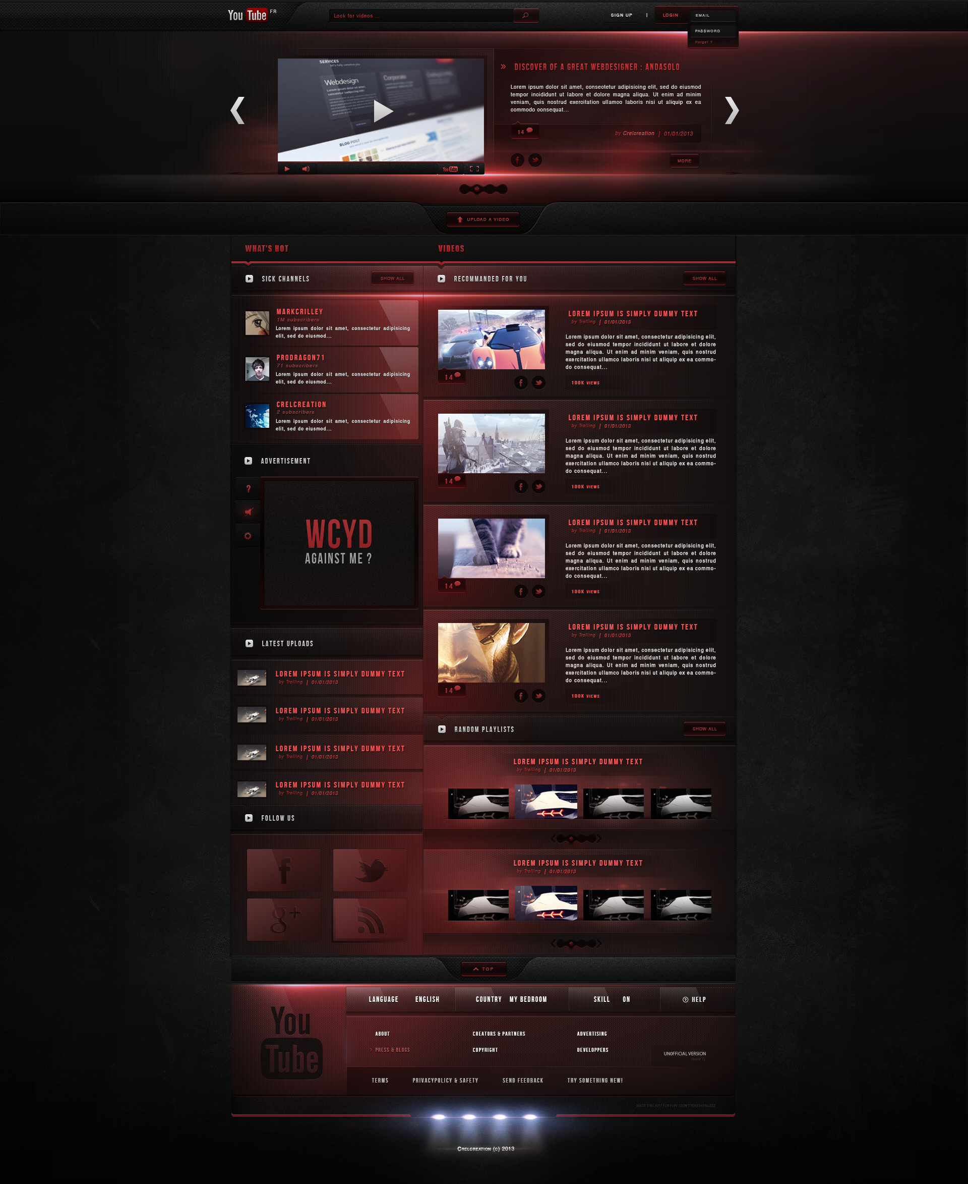 Youtube Redesign - Fun project.