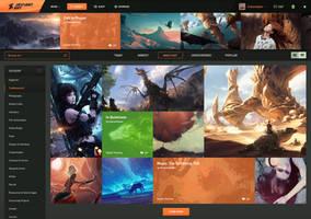 DeviantArt Homepage Redesign