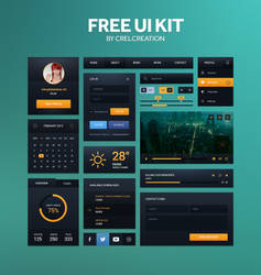 Free UI kit by Crelcreation
