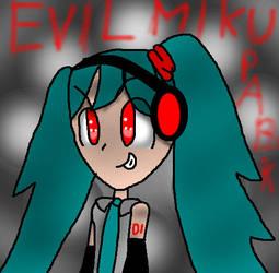Evil Miku by TheShineInTheStars