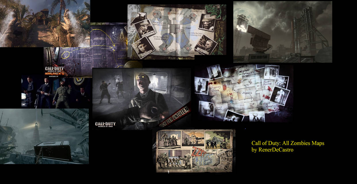 Call of Duty: All Zombies Maps by RenerDeCastro on DeviantArt Call Of Duty Zombies Map on