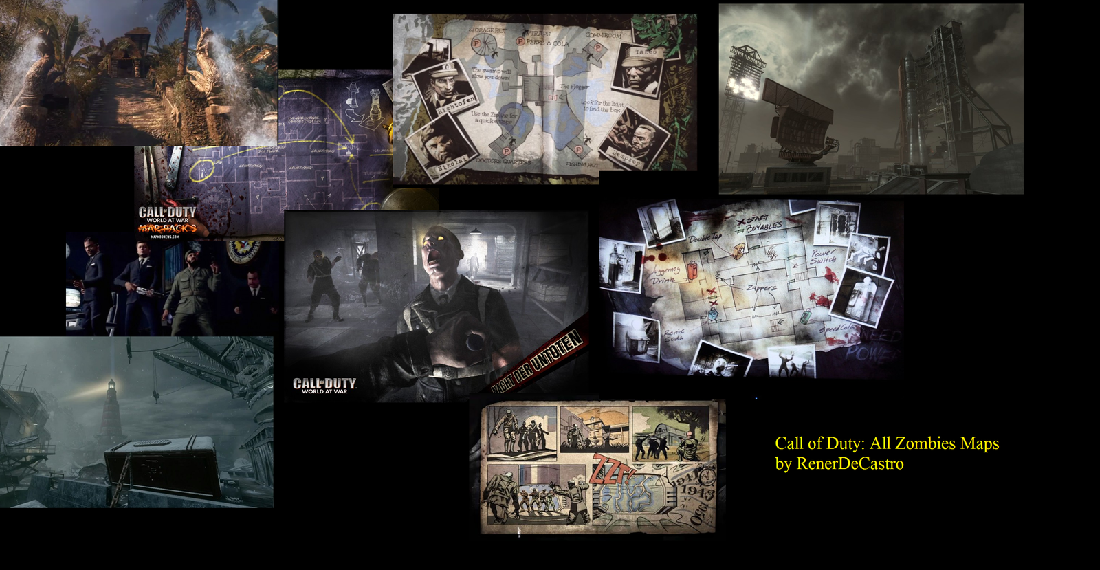 Call Of Duty Black Ops All Zombie Maps