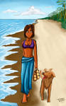 just walking at the beach by AMBONE105