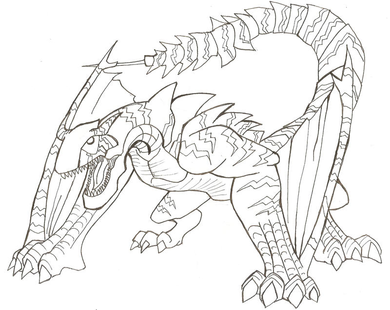 Tigrex Lineart by AMBONE105 on DeviantArt