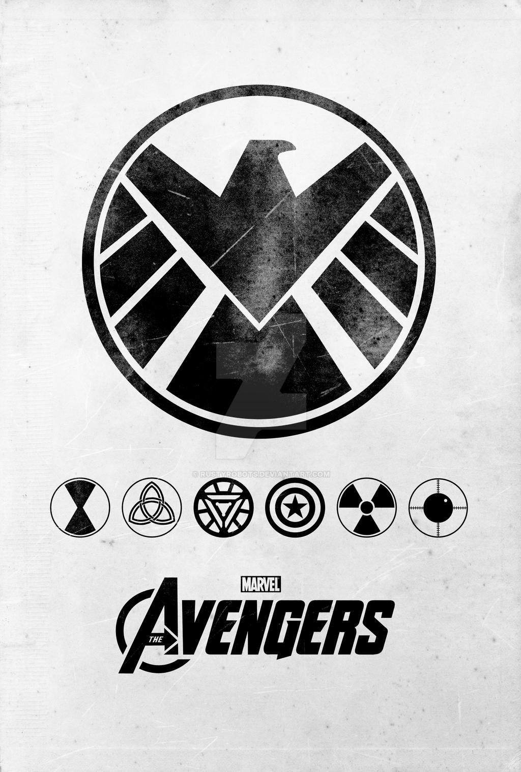 avengers poster by rustyrobots avengers poster by rustyrobots - Avengers Logo Coloring Pages