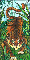 Prawling tiger