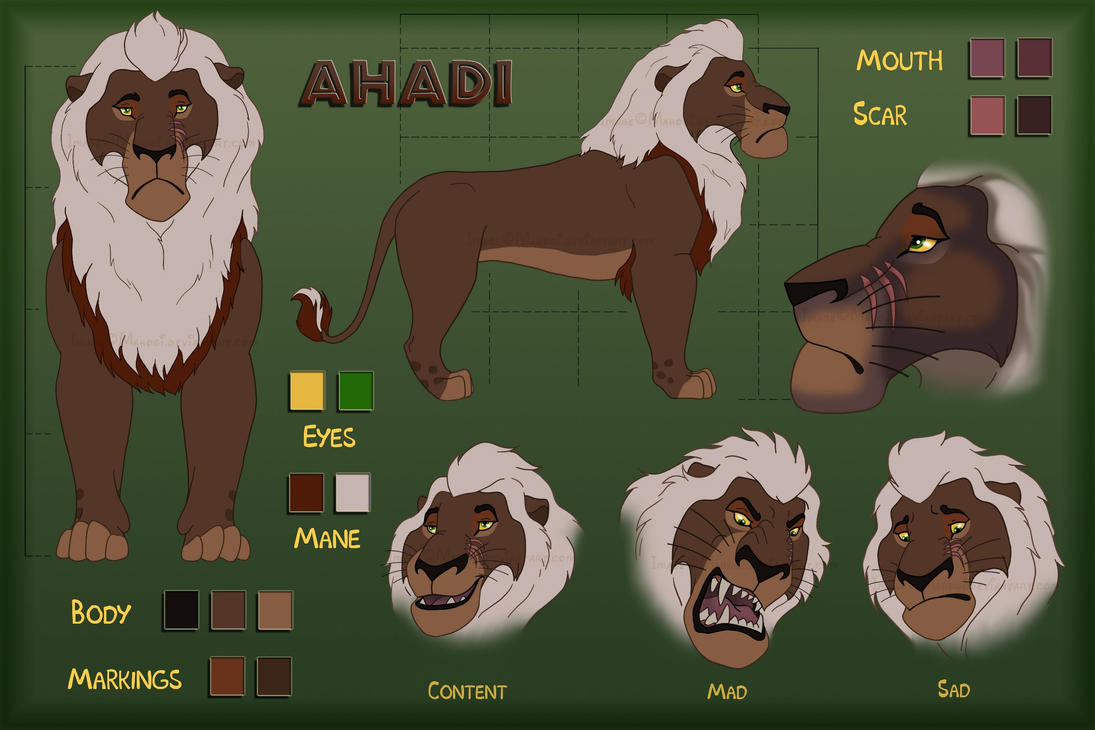 Ahadi - character sheet by Mahogi