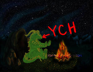 YCH - Lonely Night for a dragon/feline -OPEN-