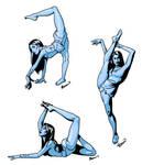 Contortionist Set - Blue Girl
