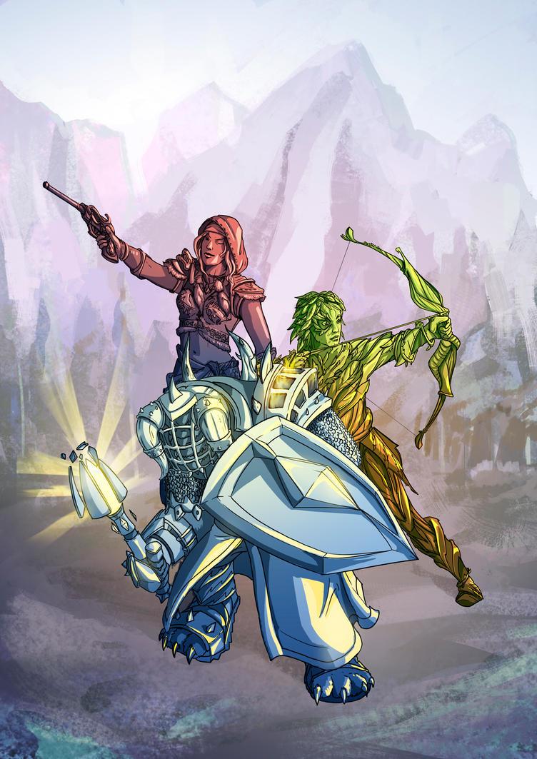 Defenders of Tyria by Angotir