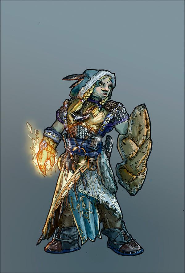 Firbolg-cleric by Angotir