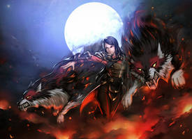 to the Battle - Banehallow the Lycan Dota 2 fanart