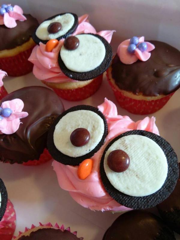 owl cupcakes by alwaysdaydream