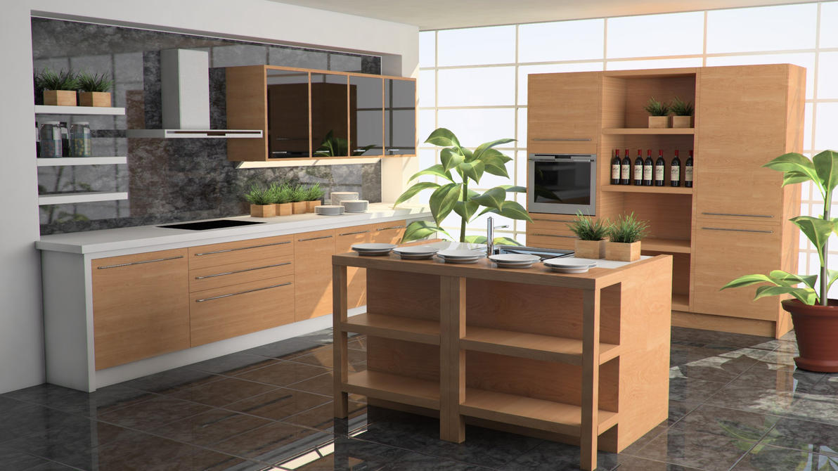 Kitchen Interior01 by Stefan1502
