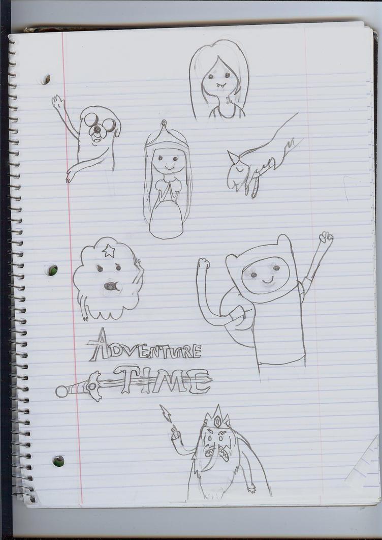 Adventure Time doodles by princessdaisy12