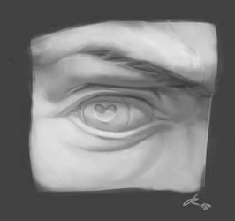 David's Eye Study by jannaphia