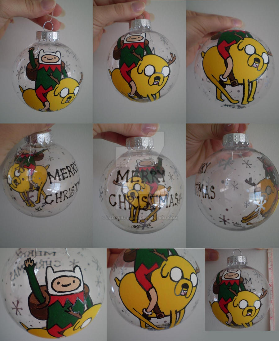 Adventure Time Christmas Ornament 2011 by LadyNin-Chan