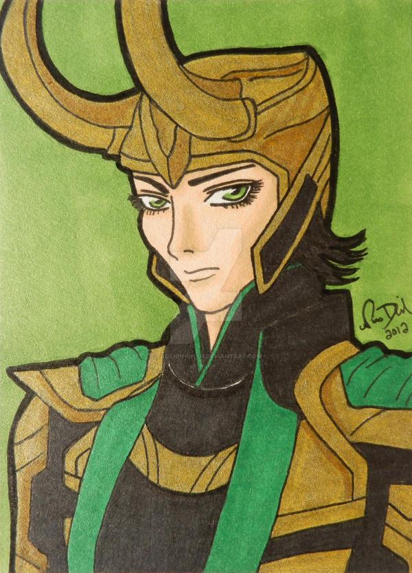 Loki ACEO card by LadyNin-Chan