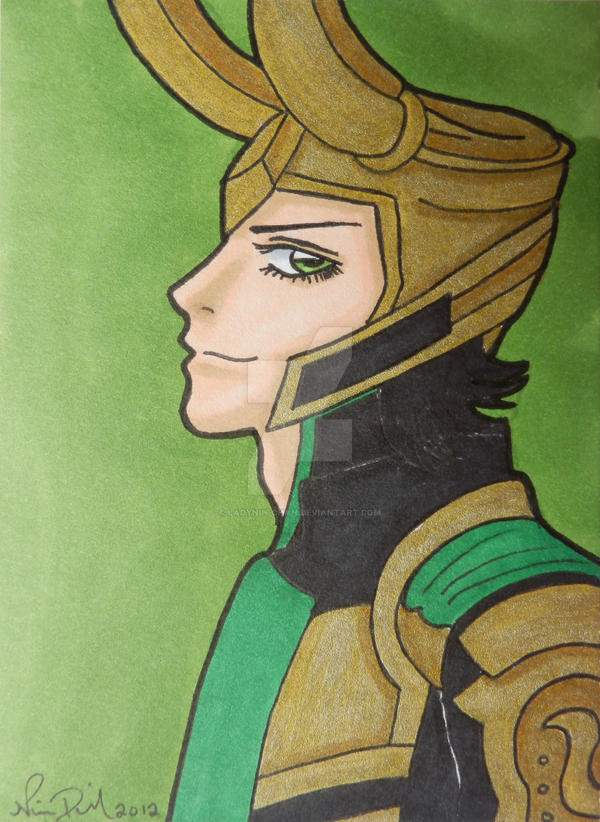Mischievous Loki ACEO by LadyNin-Chan