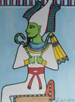 God Osiris ACEO card