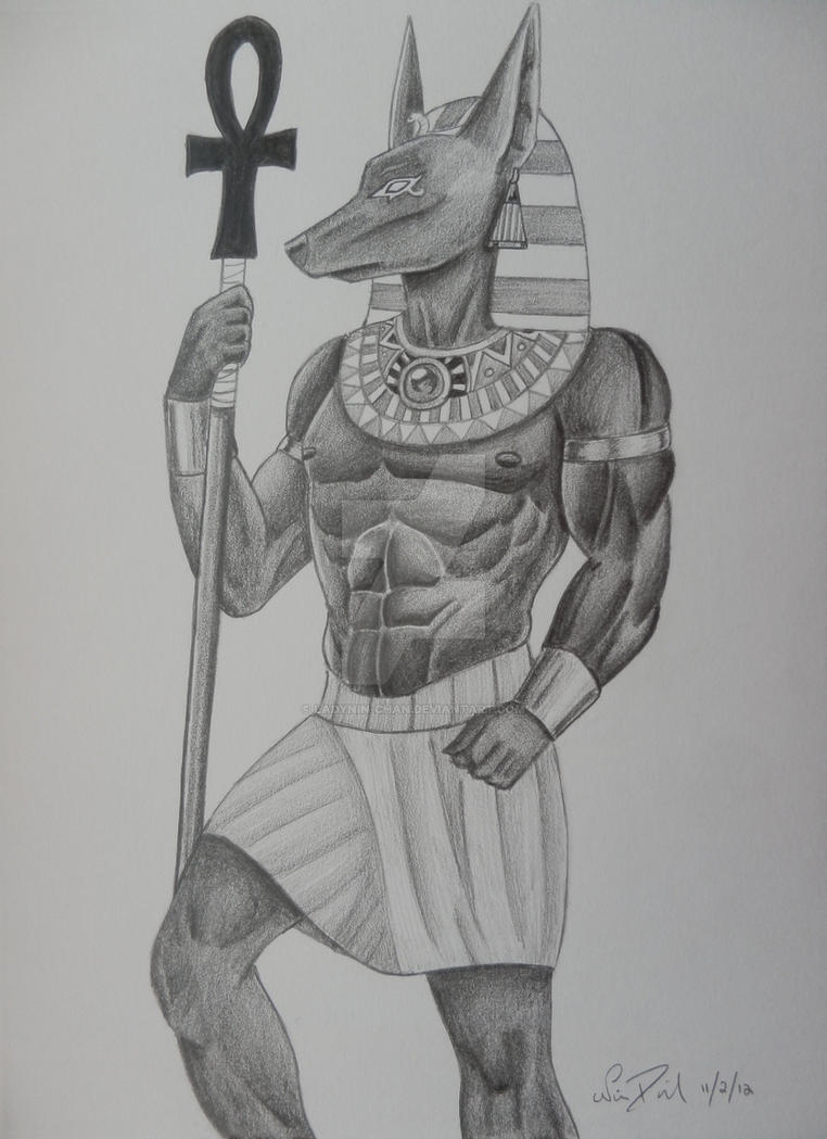 Comm: Egyptian God Anubis by LadyNin-Chan on DeviantArt