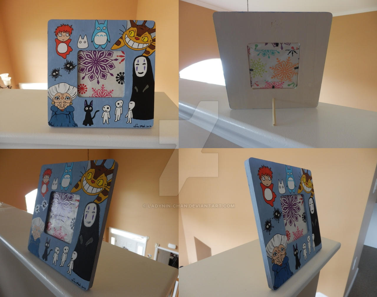 Studio Ghibli picture frame other views by LadyNin-Chan