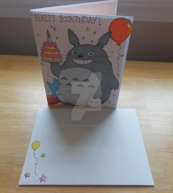 Comm Totoro Birthday Card 4 By Ladynin Chan On Deviantart