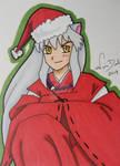 Inu Santa ACEO card by LadyNin-Chan
