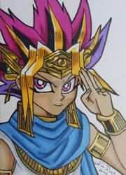Pharaoh Atem ACEO card 3 by LadyNin-Chan