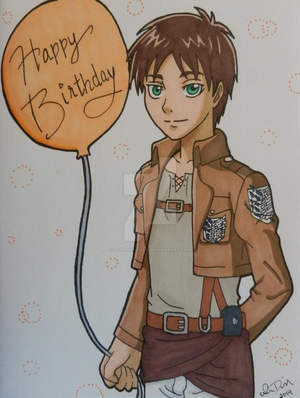 comm attack on titan birthday card by ladynin chan on