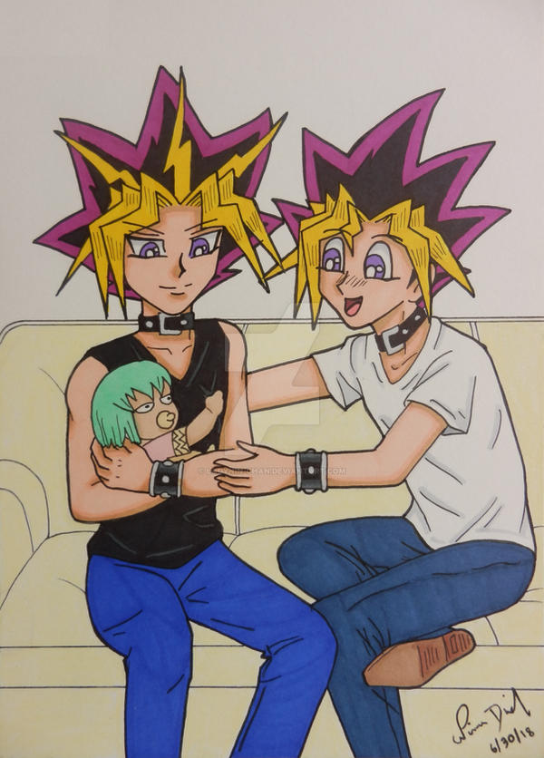 Comm Puzzleshipping Yami Yugi And Baby By Ladynin Chan On Deviantart