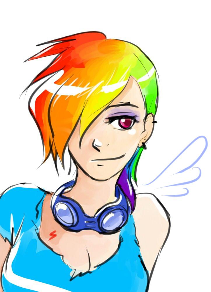 Rainbow Dash Human Boy Human Rainbow Dash by