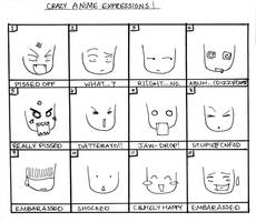 Crazy Anime Expressions by incaseyouart