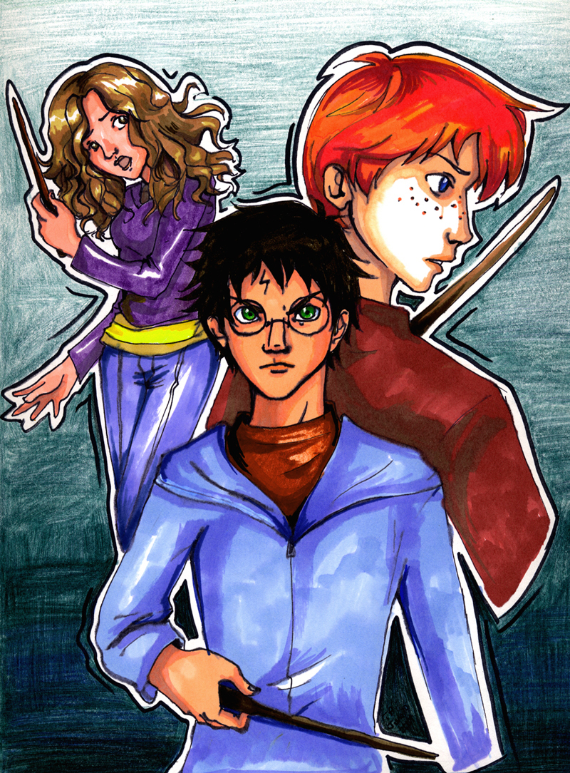 Another Harry Potter trio pic by incaseyouart on DeviantArt