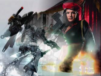 Gina Carano + Armored Core 4 by zen-shaman