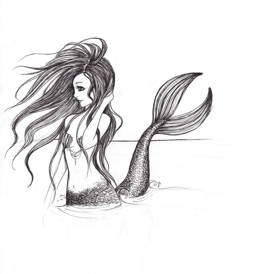 Mermaid in Moonlight by deepseastar