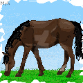 Pixel art horse by myhowrse-jellybean