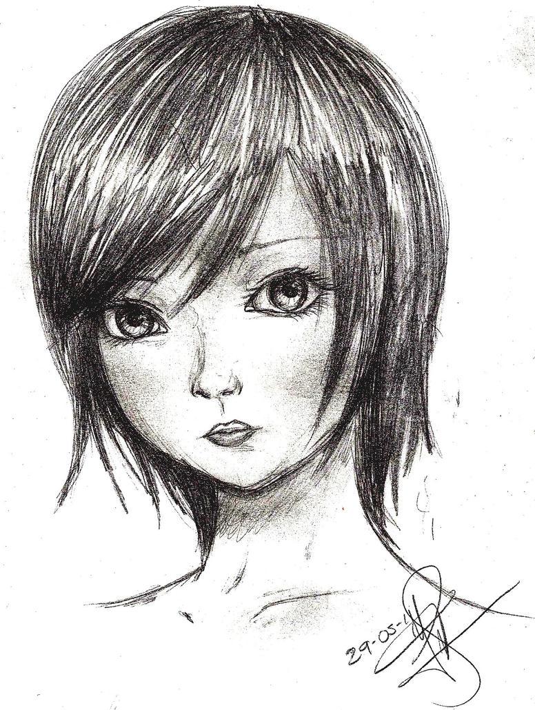 practice semi realistic face by still d0ll on deviantart
