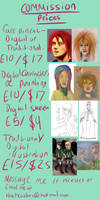 My Commission Price List