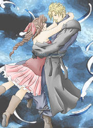 Cloud and Aeris by T-666