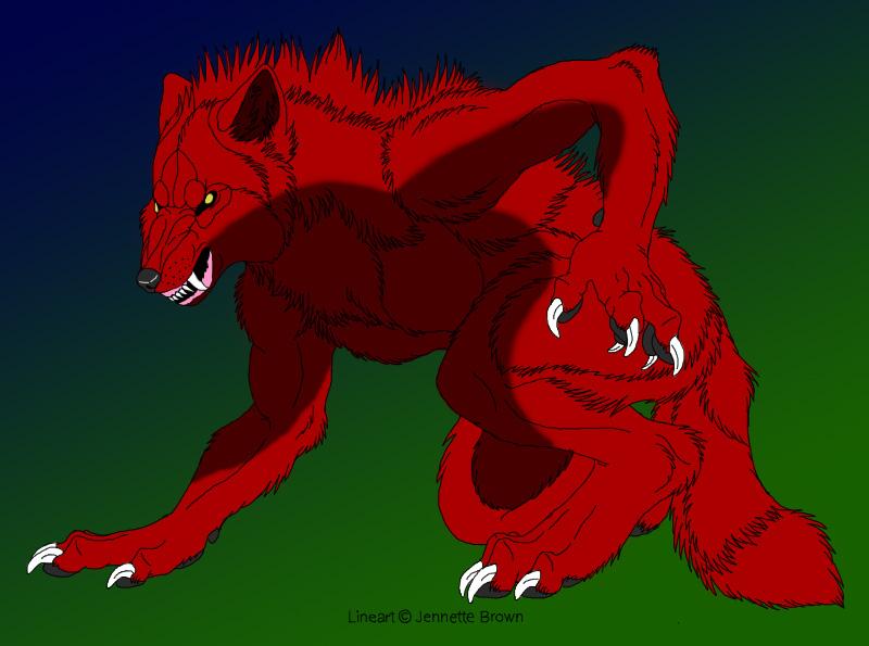 Feral Kagami Taiga Werewolf by Wulfie-IceFox