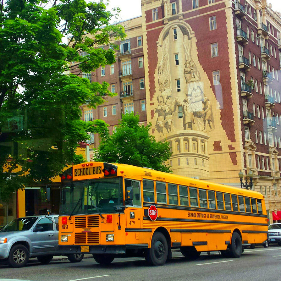 School bus by rosetheflower
